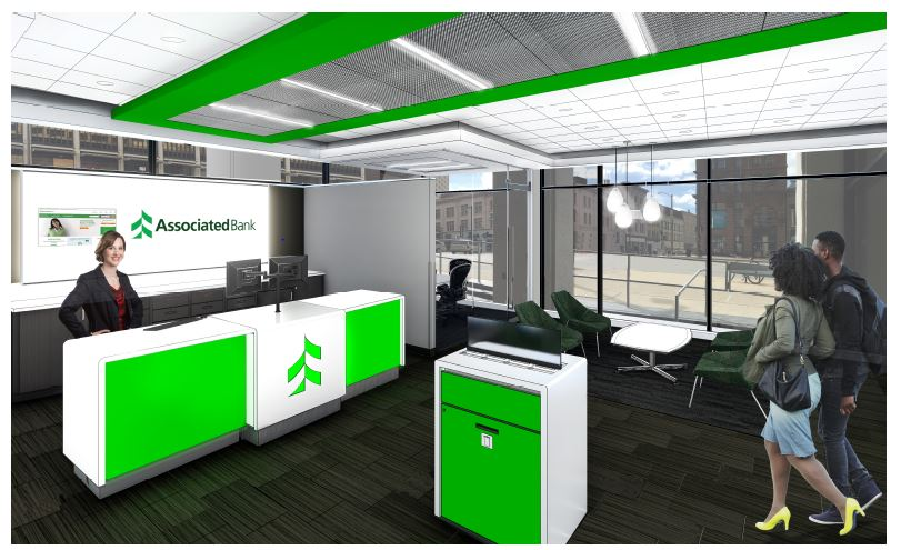 Associated Bank unveils plans for new downtown Milwaukee branch