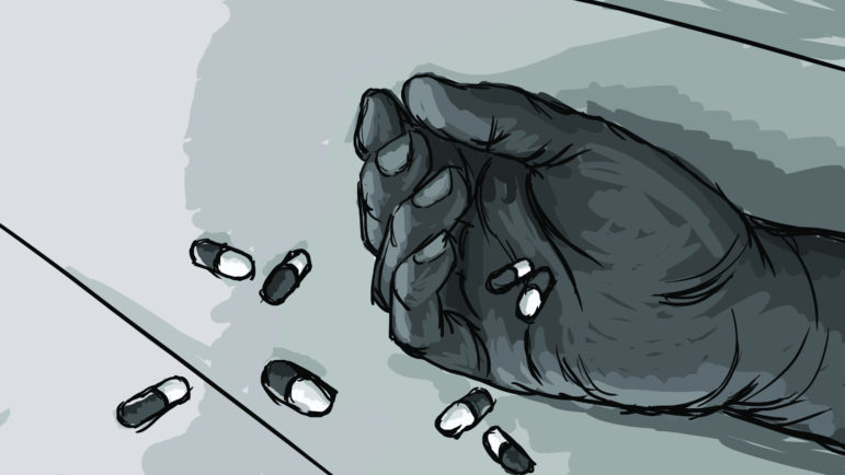 Ten inmates in our survey reported attempting suicide while in administrative confinement. Illustration by Emily Shullaw for the Wisconsin Center for Investigative Journalism.