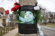 A memorial on the corner of N. 26th and W. Burleigh streets. Photo by Adam Carr.