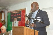 Rev. Willie Brisco, president emeritus of MICAH, addresses the crowd gathered at St. Matthews C.M.E. Church, 2944 N. 9th St., to discuss JobLines. Photo by Edgar Mendez.
