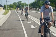 Milwaukee's raised bike lane on Bay Street is the first modern protected bike lane constructed in Wisconsin. Unfortunately it remains the only protected bike lane while other cities have added entire networks.