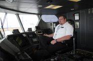John Rogers is the senior captain of the Lake Express. Photo by Justin Gordon.