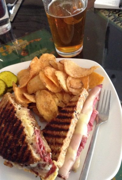 Corned Beef and Pastrami Melt. Photo by Cari Taylor-Carlson.