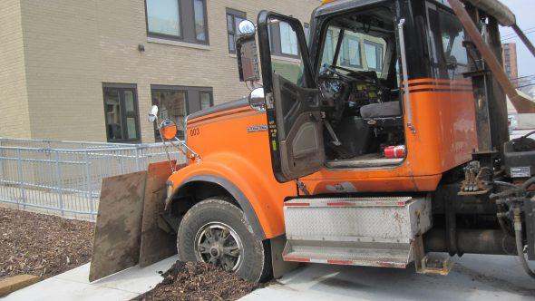 Truck stuck. Photo by Michael Horne.