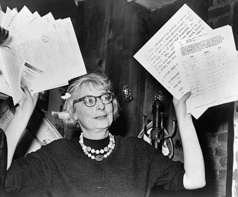 Jane Jacobs. Photo is in the Public Domain.
