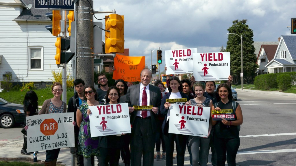 Yield to Pedestrians. Photo by Graham Kilmer.