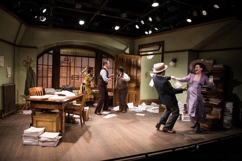 The Violet Hour. Neil Brookshire, David Flores, Marti Gobel, Nicholas Harazin, and Cara Johnston. Photo by Ross E. Zentner.