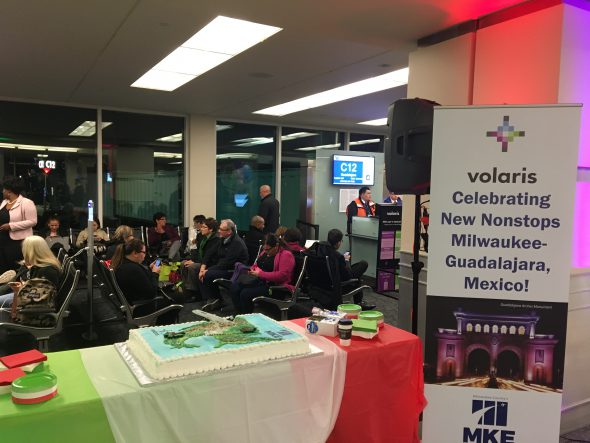Celebrating new nonstop flights to Milwaukee-Guadalajara, Mexico. Photo by Frank Martinez.