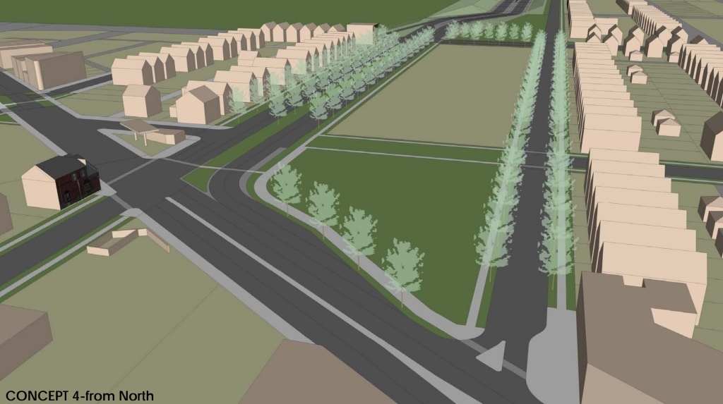WIS 175 Concept 4 from the North. Rendering from the City of Milwaukee.