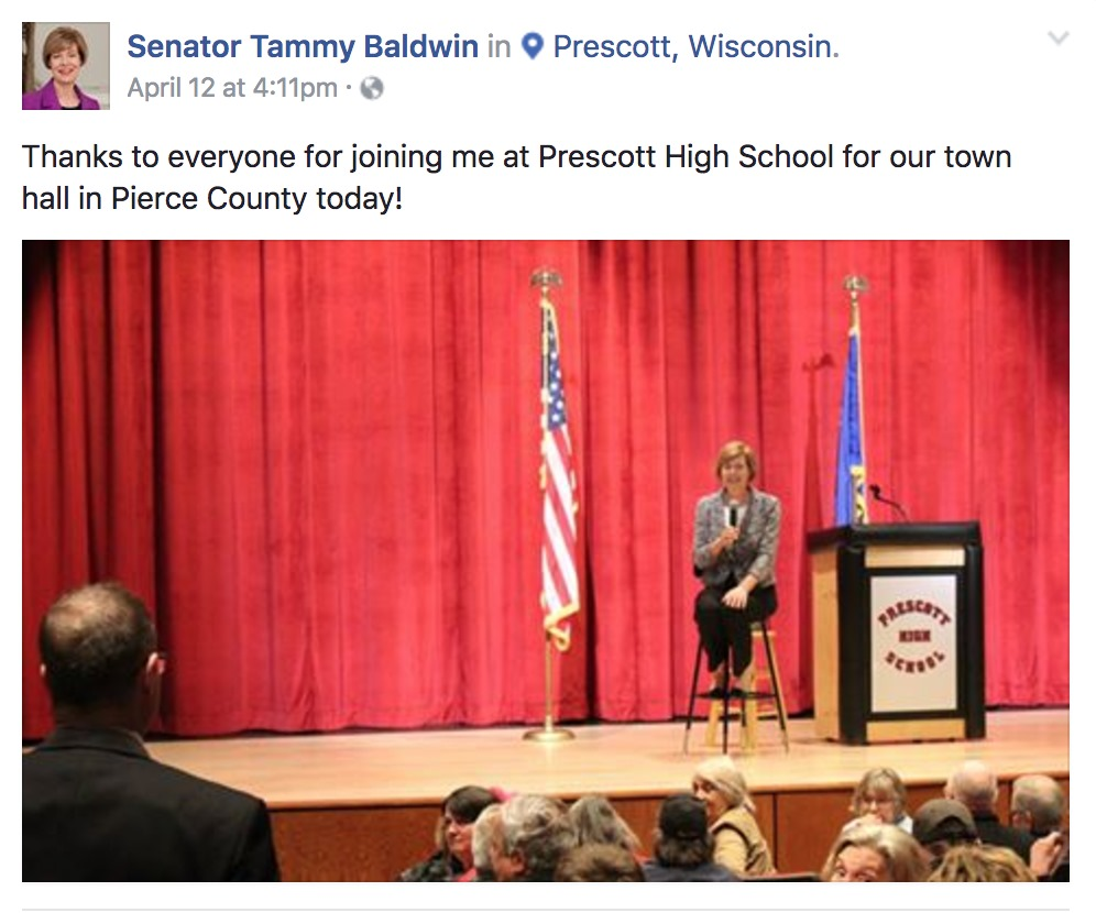 Following Successful Fundraising Quarter, Tammy Baldwin Criss Crossed Wisconsin Talking Jobs, Opioid Crisis, Veterans Choice