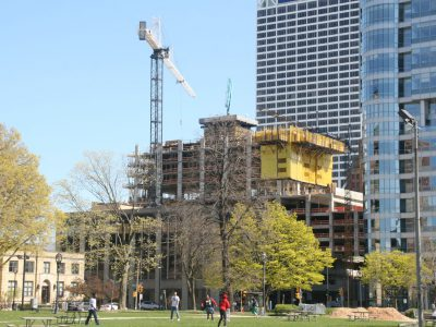Friday Photos: Downtown's New Apartment Tower Rises