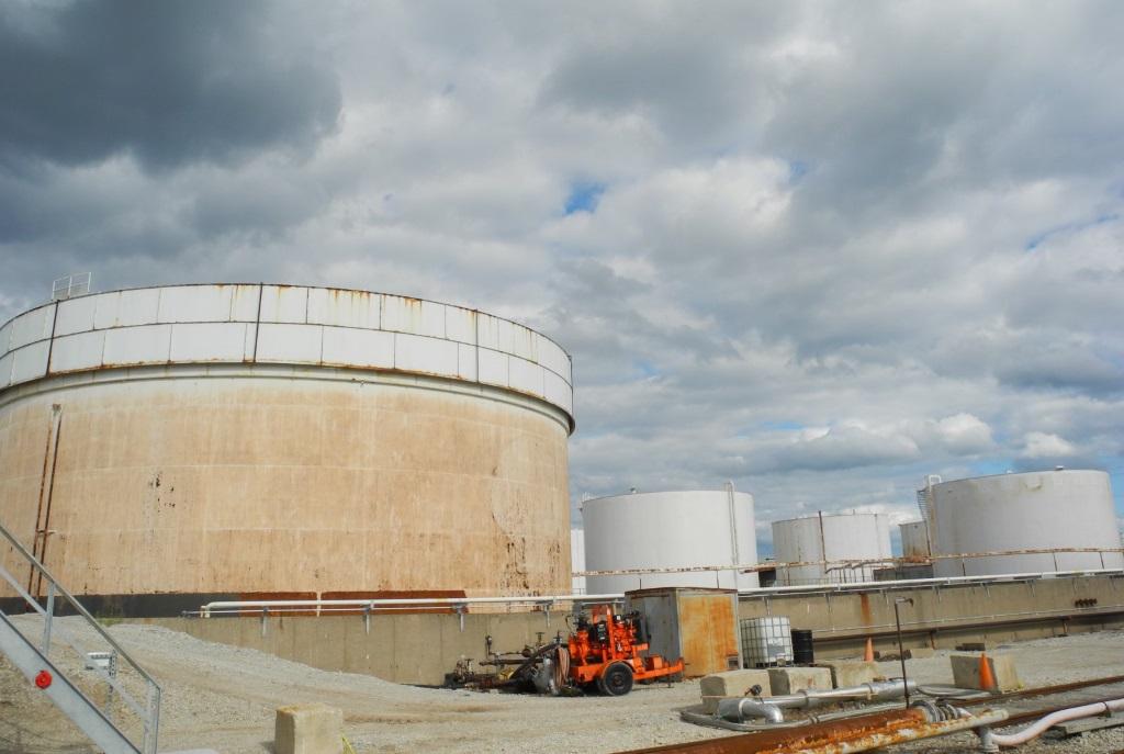 U.S. Oil storage tanks. Photo by Laura Thompson.
