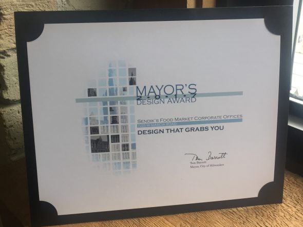 Mayor's Design Award for Sendik's Food Market Corporate Offices. Photo courtesy of Madisen Maher Architects.