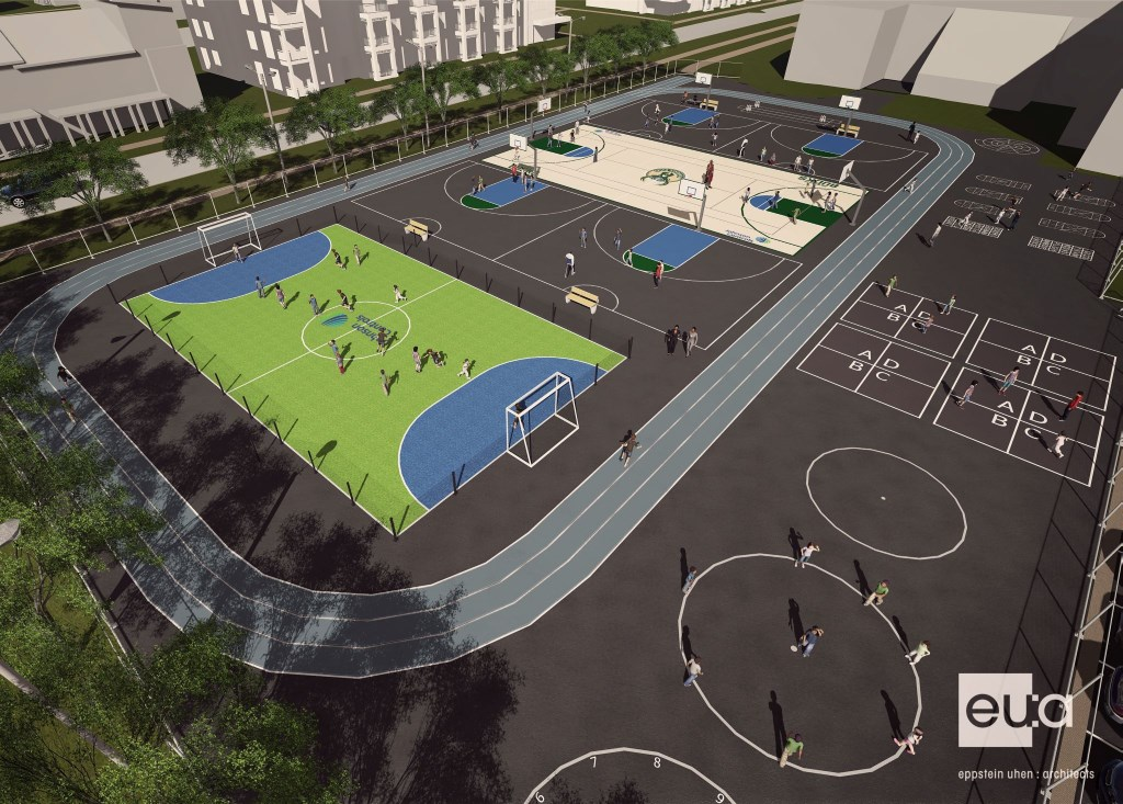 Bucks and Johnson Controls to Build $150,000 Multi-Sport Complex at MPS' Browning Elementary School