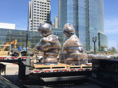 Eyes on Milwaukee: Downtown Sculpture Project Being Installed