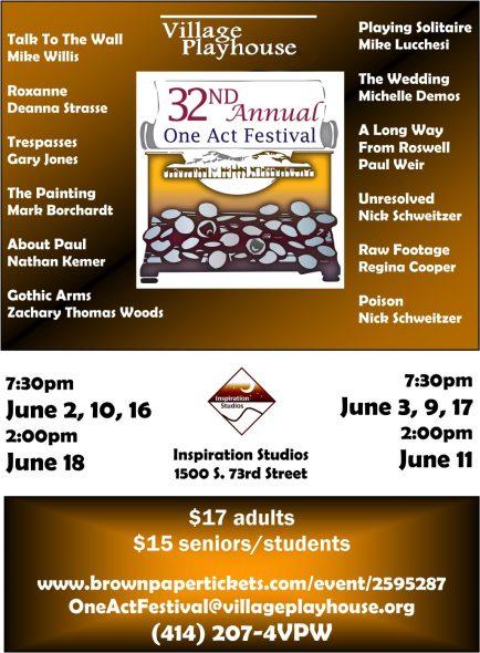 Village Playhouse 32nd Annual Original One Act Festival Features TWELVE Original Entries