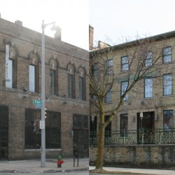605-609 W. Virginia St. The tied house is on the left, the rowhouse on the right. Photos by Jeramey Jannene.