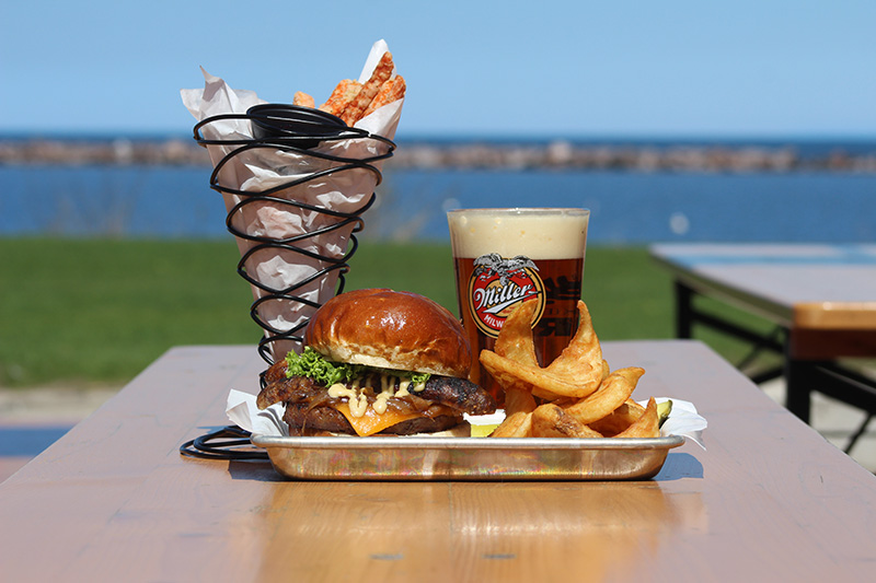 Visit the beachside South Shore Terrace Kitchen & Beergarden for a brew with a view. Photo from Milwaukee County Parks.