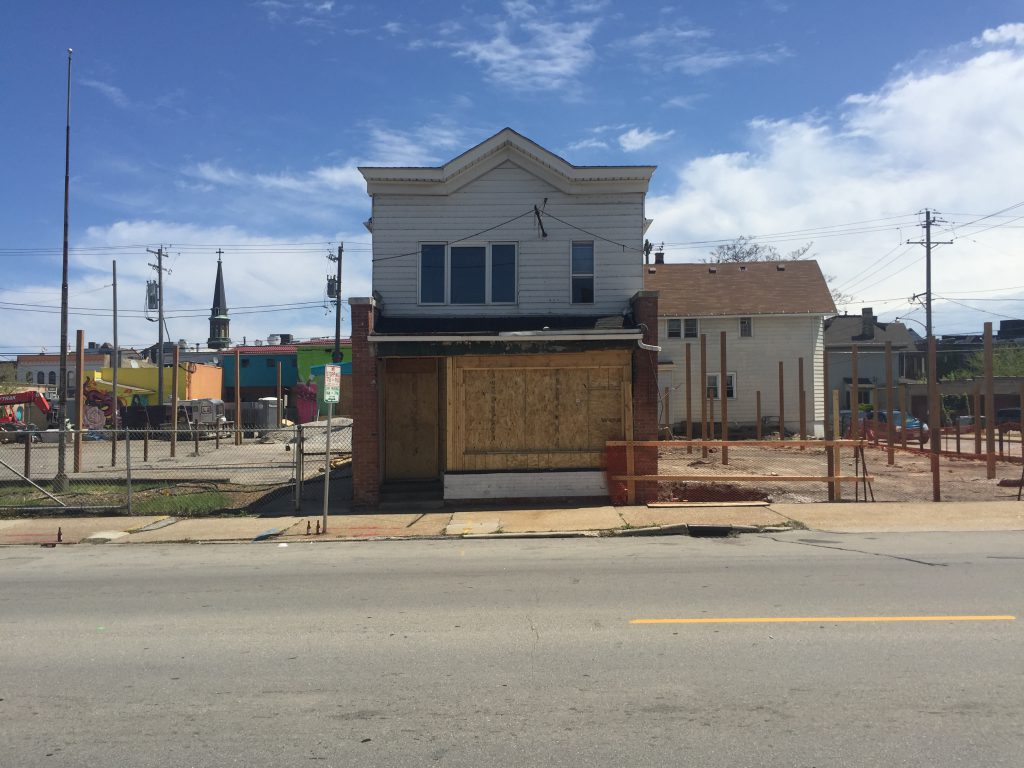 Future location of a food truck park, 636 S. 6th St. Photo by Dave Reid.