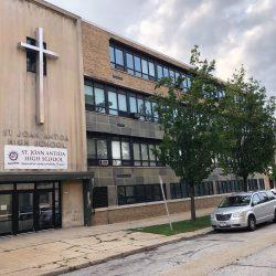 St. Joan Antida High School, 1341 N. Cass St. Photo taken August 31st, 2020 by Dave Reid.