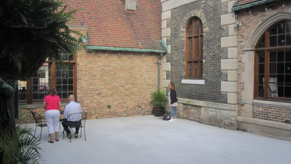The courtyard. Photo by Michael Horne.