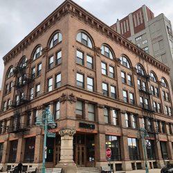 Baumbach Building at 310-312 E. Buffalo St. in the Historic Third Ward. Photo by Jeramey Jannene.