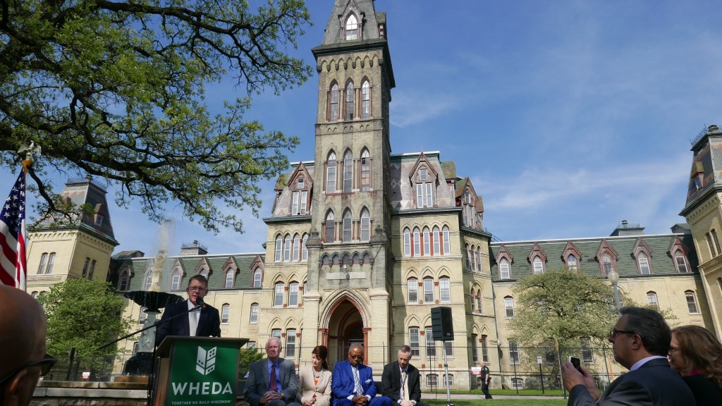 "In May, $1.4 million in low-income housing tax credits were awarded for the redevelopment of the 1860s ""Old Main"" building. Photo by Graham Kilmer."