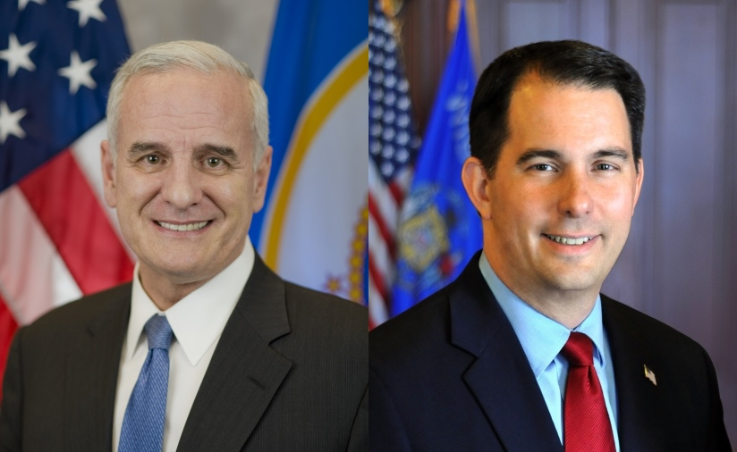 Mark Dayton and Scott Walker