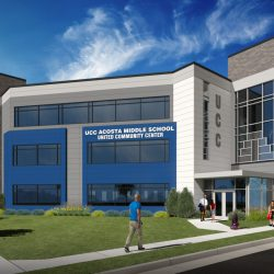 Acosta Middle School. Rendering by JAKnetter Architects.