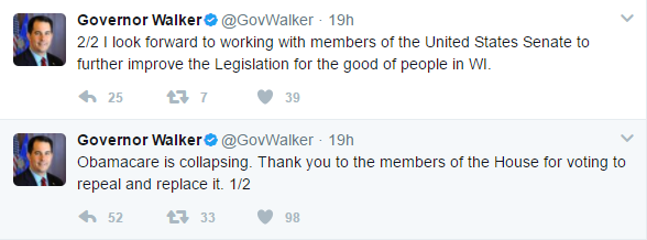 Gov. Walker Tweets.