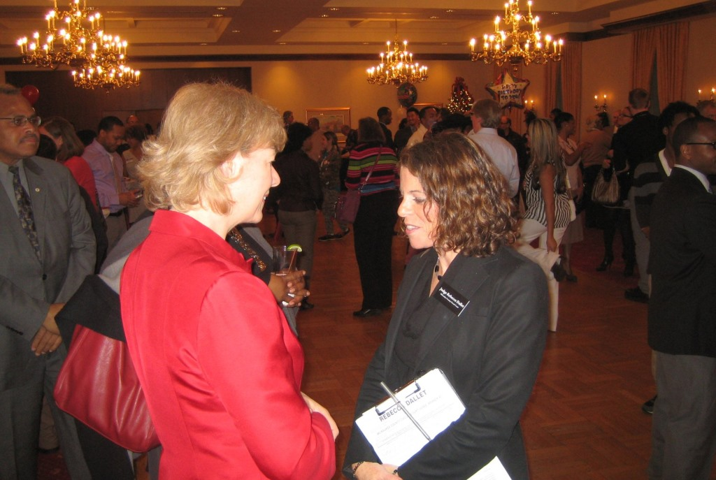 Sen. Tammy Baldwin with Judge Rebecca Dallet. Photo taken December 3rd, 2013 by Michael Horne.