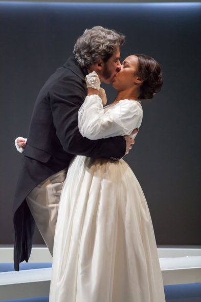 Milwaukee Repertory Theater presents Jane Eyre in the Quadracci Powerhouse from April 25 to May 21, 2017. From left to right: Michael Sharon and Margaret Ivey. Photo by Mikki Schaffner.