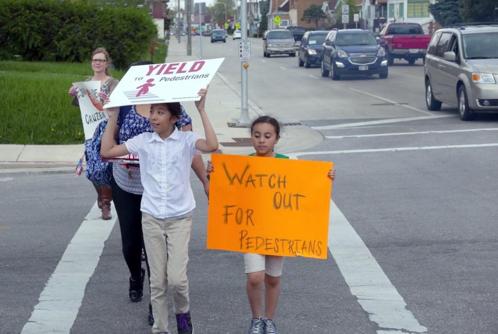 Yield to Pedestrians. Yield To Pedestrians. Photo by Graham Kilmer.