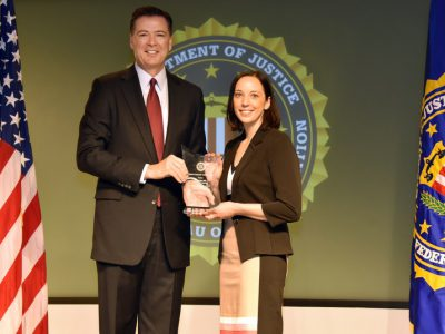 FBI Director Awards Safe & Sound for Community Leadership