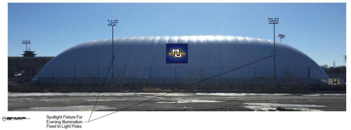 Rendering of Logo Location at Marquette Seasonal Dome
