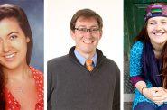 Morgan Lieske, Dane DeVetter and Victoria Zidek (L-R). Photo courtesy of Marquette University.
