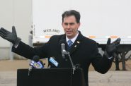 Governor Scott Walker at the 10th Street Brewery Expansion Groundbreaking. Photo by Jeramey Jannene.