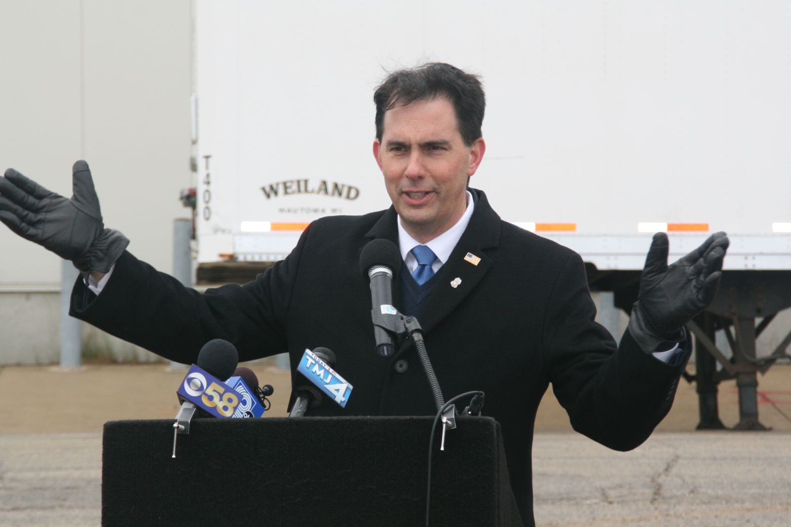 Governor Scott Walker. Photo by Jeramey Jannene.