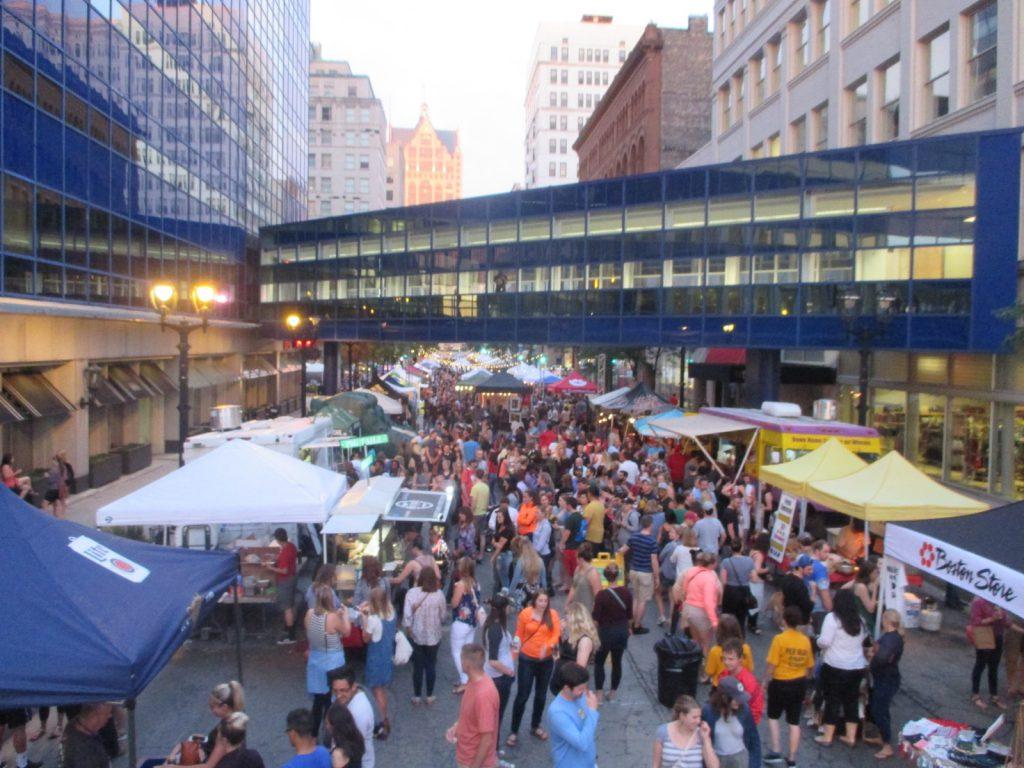 NEWaukee Night Market. Photo by Jeramey Jannene.