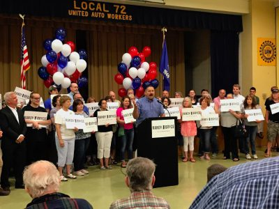 Randy Bryce Holds First Rally of Campaign in Kenosha, Joined by Large Crowd of Enthusiastic Supporters