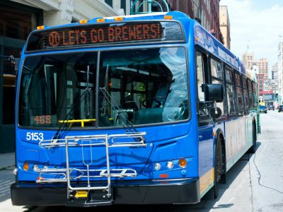 Transportation: Group Pushes Higher Wheel Tax for Transit