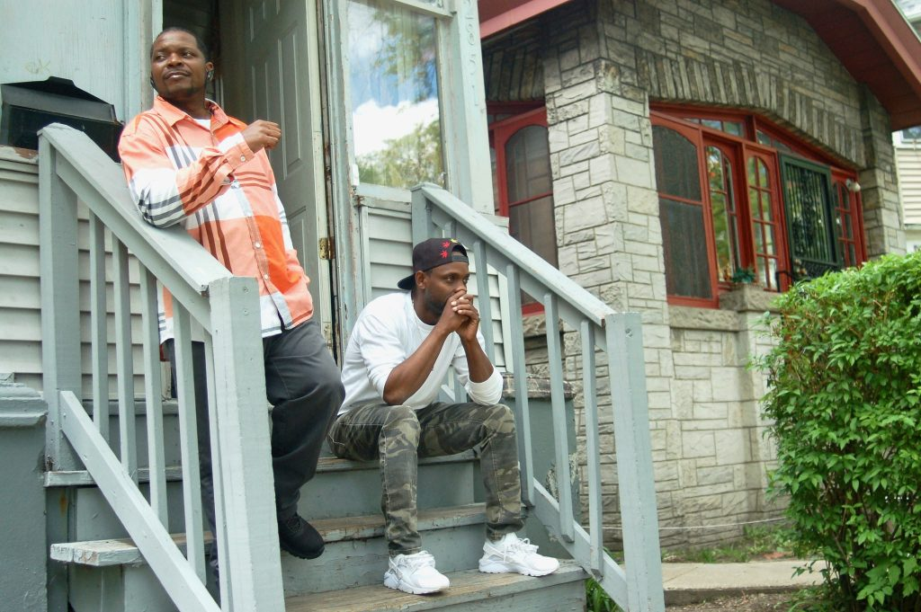 Oscar Manuel (left), 46, and his brother Roosevelt Manuel, 43, have lived on Milwaukee's North Side their entire lives. Photo by Edgar Mendez.