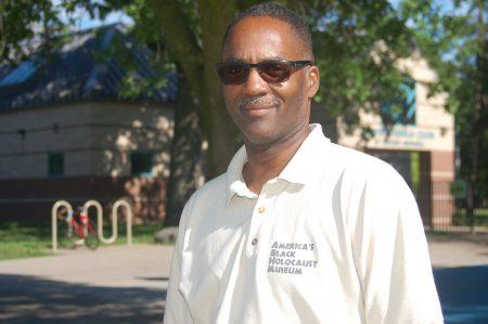 Reggie Jackson, head griot at America's Black Holocaust Museum, has studied residential segregation in Milwaukee. Photo by Edgar Mendez.