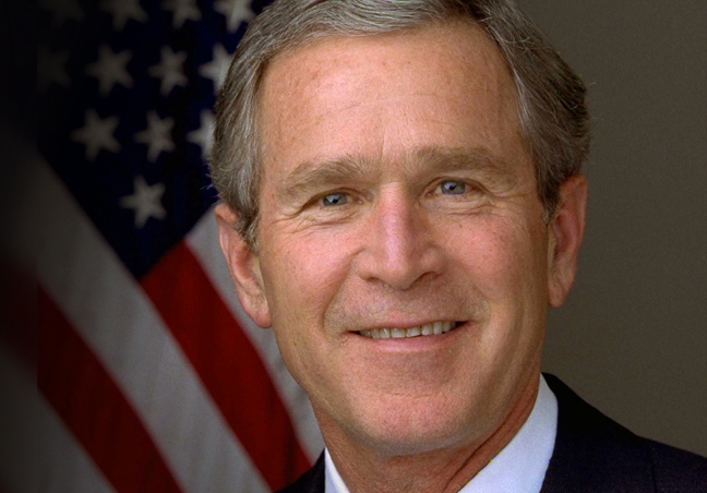 President George W. Bush. Photo is in the Public Domain.
