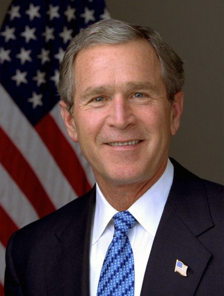 President George W. Bush. Photo by Eric Draper, White House. Photo is in the Public Domain.