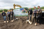 Groundbreaking at the Red Fox Crossing subdivision. Photo from SunVest Solar, Inc.