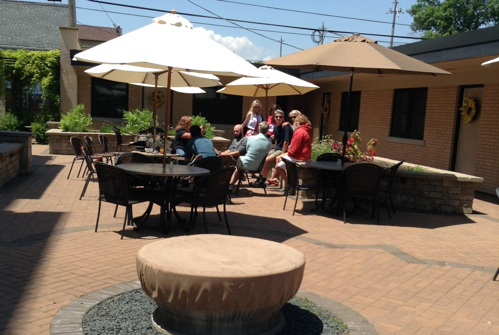 Sheridan's patio. Photo by Cari Taylor-Carlson.