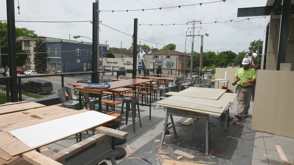 Good City Brewing's new rooftop patio. Photo by Graham Kilmer.