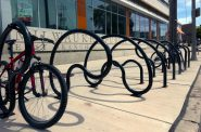Custom Bike Racks. Photo by Graham Kilmer.