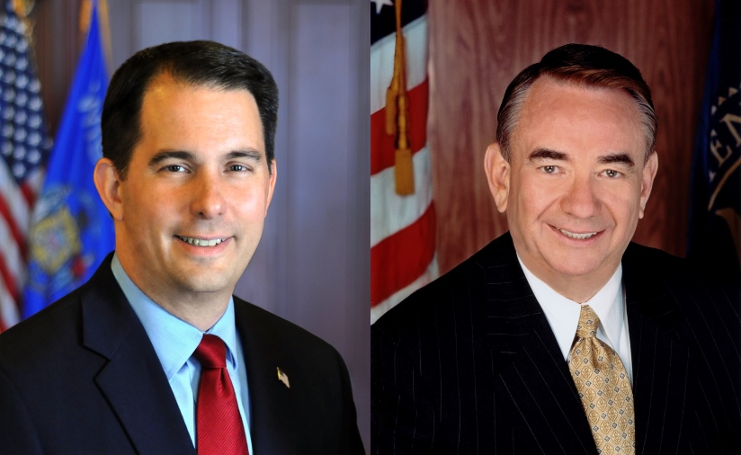 Scott Walker and Tommy Thompson.